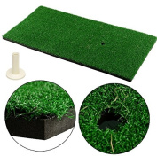 LL-Golf® Golf driving mat 60x30 cm / practise / exercise mat with rubber tee