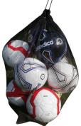 New 10 balls Black Mesh football carry net soccer netball, rugby ball