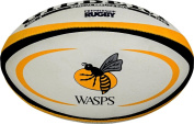 Gilbert Rugby Sports Hand Stitched Grippy Rubber Surface Wasps Replica Ball