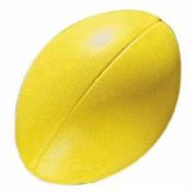Kids Outdoor Sports Garden Game Training & Match Play Sponge Rugby Ball Yellow