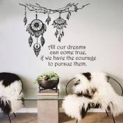 Dreams Catcher Wall Decals Feather Stickers Boho Dreamcatcher Art Vinyl Decal Bedroom Nursery MC2