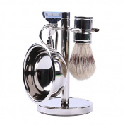 Stainless Steel Shaving Set for Men - Includes Razor, Bowl, Brush, and Stand by Science Purchase