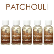 Hosley's Premium Grade Concentrated, PATCHOULI Highly Scented Warming Oils- Set of 5pc / 55 Ml (1.86 Fl Oz) Ea.. BULK BUY.