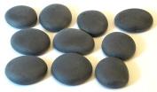 Glass Pebbles - Decorative Stones Matt Black Large Muggel Nuggets - 200g Bag