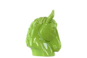 Urban Trends Ceramic Horse Head, Large, Gloss Green