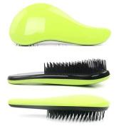 Garrelett Detangling Brush, Paddle Wet Shower Bath Hair Brush Beauty Styling Care Hair Comb - No More Tangle - Adults & Kids Green