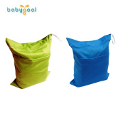 Baby Zippered Wet Bag for Cloth Nappies Waterproof Washable and Reusable by Babygoal L0309F