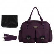 LCY Fashion Messenger Tote Nappy Bag Purple