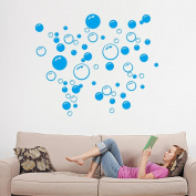 Wall Stickers ZTY66, Bubbles Circle Removable PVC Mural Stickers for DIY Home Decor