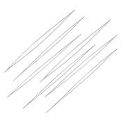 10pcs Big Eye Beading Needle, Made Of Stainless Steel, 12.5cm long, 0.1mm thick, hole