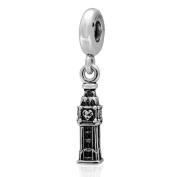 London Big Ben Dangle Charm 925 Sterling Silver Beads fit for Fashion Charms Bracelets
