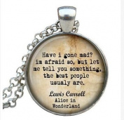 Necklace Lewis Carroll pendant