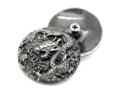 CRAFTMEmore 2 PCS 3.5cm Chinese Dragon Concho Screw Back Leather Craft Embellishments
