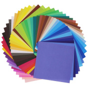 SOOKOO 50 Vivid Colours 200 Sheets Single Sided Origami Paper for Arts and Crafts Projects, 15cm by 15cm
