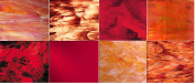 8 sheets - Red Stained Glass Sheets - Spectrum Glass
