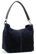 Aossta Ladies Real Italian Suede Leather Medium Shoulder Handbag Tote Bag