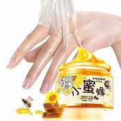Kuulee Hands Care Paraffin Milk & Honey Peel Off Hand Wax Mask Exfoliate Hydrating Exfoliating Nourish Whitening Hand Mask Skin Care 150g