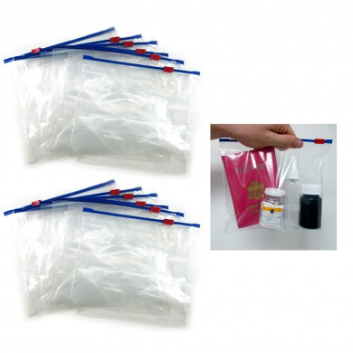 12 Plastic Travel Bags Zipper Lock Top Seal Airline Tsa Pouch Carry On Ziplock