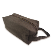 Tamarind Bay Canvas Blend Toiletry Bag with inside lining - Cedar Brown