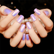 JINDIN 24 Sheet Square Head Fake Nails Full Cover for Girls Nail Tips Design Office Woman Nail Decals