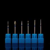 Alonea 6PC Ceramic Nail File Drill Bit Tools For Nail Art Machine Grinding Stone Head