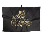 Gold Butterfly Unisex Fashion Golf Towel 38X60cm