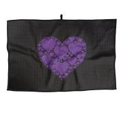 Hearts In Heart Purple Unisex Simple Golf Towel