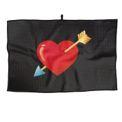 Red Heart With Arrow Unisex Leisure Golf Towel