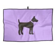 Black Dog Unisex Cute Golf Towel