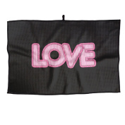 Pink Love Unisex Casual Golf Towel