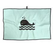 Whale Breathing Unisex Simple Sports Golf Towel