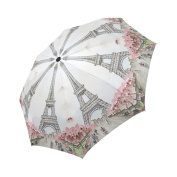 Funny Paris Eiffel Tower Umbrella - Compact Travel Umbrella with Windproof Lightweight Automatic Foldable