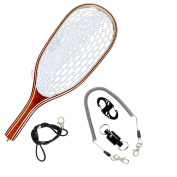 SF Fly Fishing Landing Soft Rubber Mesh Trout Catch and Release Net