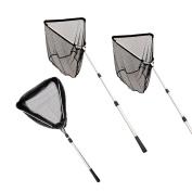 Fiblink Folding Telescoping Aluminium Fishing Landing Net with Extending Pole Handle