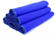 6 Pcs Blue Absorbent Wash Cloth Car Auto Care Microfiber Cleaning Towels Cloths