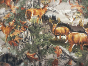 Realtree Deer Country In Mountains Flannel Fabric