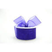 Plum Purple 3.8cm . Wide Sheer Organza Ribbon