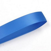 Royal Blue 1cm . Wide Double-Faced Satin Ribbon - 100 Yard Spool