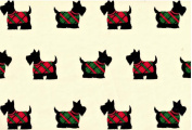"""Scottish Terrier Rolled Christmas Gift Wrap Paper """"Scotty Dogs"""""""