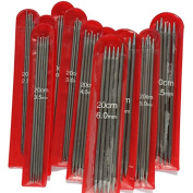 New 115 PCS 11 sizes 20cm Double Point stainless steel Straight Knitting Needles Sweater Knitting Needles sets 2-6.5mm