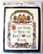 Home & Hearth Stitch N Frame Counted Cross Stitch Kit 4098
