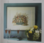 Flower Basket, Permin of Copenhagen Cross Stitch Chart Danish Art Needlework