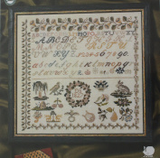 Sampler 1827, Permin of Copenhagen Cross Stitch Chart Danish Art Needlework