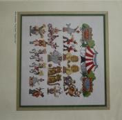 Circus in Town, Permin of Copenhagen Cross Stitch Chart Danish Art Needlework