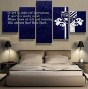 Ravenclaw Motivational Quote in Navy Blue Colour - 5 piece Canvas