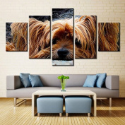 Cute Dog w/ Brown Fur - 5 piece Canvas