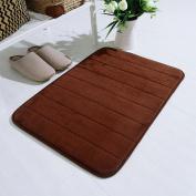 SMYTShop Non-slip Memory Cotton Coral Carpet Mats Non-slip Bath Mats Kitchen Bathroom 5090cm