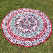 SMYTShop Round Hippy Mandala Bohemian Hippie Tapestry Beach Picnic Throw Yoga Mat Towel Blanket