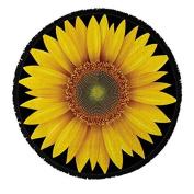 Sunflower Round Beach Towel 100% Cotton Roundie Mandala Flower Gypsy Beach Blanket Boho Terry Cloth Fringed Tassel Towel