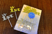 Simply Pleasant - Silver and Gold 1st Birthday Cupcake Topper Decoration 12CT, First Birthday Party